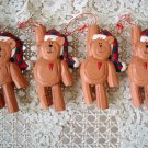 4 MIDWEST OF CANNON FALLS TEDDY BEAR CHRISTMAS ORNAMENTS **NEW** SO CUTE