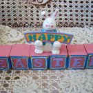 MIDWEST OF CANNON FALLS HAPPY EASTER BUNNY WITH BLOCK DECORATION ****SO CUTE****