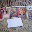 MARY ENGELBREIT 8 BLANK CARDS & IT'S GOOD TO BE QUEEN POST IT NOTES ***AWESOME**