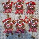 HOLLY BEARIES 6 RETIRED CHRISTMAS JOY BEARS CHRISTMAS ORNAMENTS ***NEW***