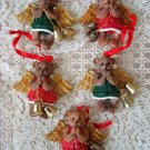 SET of 5 BEAUTIFUL ANGEL BEAR ORNAMENTS SO CUTE ***NEW***
