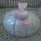 BEAUTIFUL OPALESCENT EASTER EGG CERAMIC BOX WITH BOW ***SO CUTE FOR EASTER***
