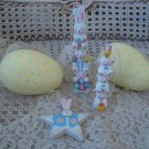 CUTE LOT OF EASTER EGGS, EASTER ORNAMENTS & EASTER FIGURINE