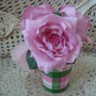 GORGEOUS ROSES IN A CUP HOME DECOR  ****GREAT FOR SPRING****