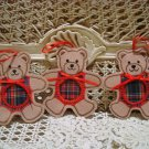 3 CHRISTMAS TEDDY BEAR ORNAMENTS INSERT YOUR PICTURE *NEW* **SO CUTE***