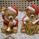 CHRISTMAS SANTA BEAR CERAMIC CHRISTMAS SALT & PEPPER SET  **SO CUTE**