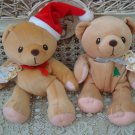 SET OF 2 CHERISHED TEDDIES CHRISTMAS BEANIE BEARS  ****SO CUTE*****