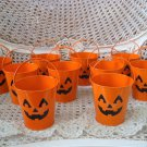 10 CUTE HALLOWEEN METAL PUMPKIN FACE PAILS ORNAMENTS ***SO CUTE***