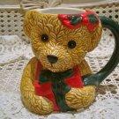 CHRISTMAS TEDDY BEAR WITH PRESENT CERAMIC CHRISTMAS MUG ***SO CUTE*** NEW