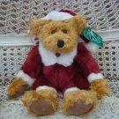 """RUSS BERRIE 10"""" TALL KRIS SANTA BEAR CHRISTMAS DECORATING **SO CUTE**"""