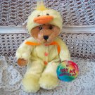 ADORABLE BEAR DRESSED UP AS AN EASTER CHICK  ***SO CUTE***