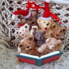 HOLLY BEARIES RETIRED CHRISTMAS BEARS CAROLING CHRISTMAS ORNAMENT **NEW**