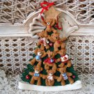HOLLY BEARIES RETIRED LARGE CHRISTMAS TREE OF BEARS CHRISTMAS ORNAMENT *NEW*