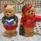 CHRISTMAS TEDDY BEAR CERAMIC SALT & PEPPER SHAKERS *SO CUTE** NEW