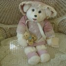 "TILLY COLLECTIBLES 24"" TALL ADORABLE BEAR WITH PRETTY LACE ACCENTED OUTFIT *NEW*"