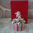 FITZ AND FLOYD PEPPERMINT TEDDY CHRISTMAS BEAR TRINKET BOX ***NEW IN BOX***
