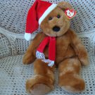 "RARE LARGE TY SANTA TEDDY BEAR 21"" TALL **NEW WITH TAGS** MINT CONDITION"