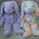 SET OF 2 ADORABLE TY EASTER BUNNIES BEANIE BUDDIES ***RETIRED***
