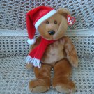 "TY SANTA TEDDY BEAR 13"" TALL **NEW WITH TAGS** MINT CONDITION"