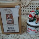 MIDWEST OF CANNON FALLS SANTA RUDOLPH CHRISTMAS HINGED BOX **SOLD AS IS***