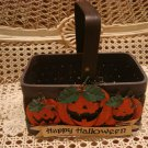 RARE MIDWEST IMPORTERS HAPPY HALLOWEEN PUMPKIN BASKET **NEW**