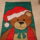 ADORABLE CHRISTMAS TEDDY BEAR FLAG  *NEW*