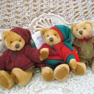 "RUSS BERRIE SET OF 3 ADORABLE 6"" TALL BENJI BEARS **SO CUTE*** NEW"