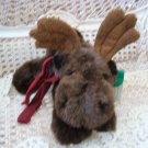 "RUSS BERRIE GUSTO 11"" LONG MOOSE STUFFED ANIMAL ***ADORABLE** NEW"