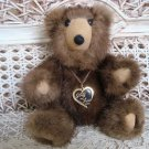 "GORGEOUS VINTAGE STUFF N FURS 7"" TALL JOINTED MINK TEDDY BEAR **SO CUTE**"