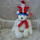 "ADORABLE GUND 16"" TALL CHRISTMAS BEAR WITH SANTA HAT & SCARF ***SO CUTE***"