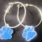 Blanchester wildcat hoop earrings