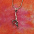 Gymnast Necklace, Snake Chain Gym Gymnastics School Jewelry