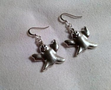 Ghost  Handmade dangle earrings