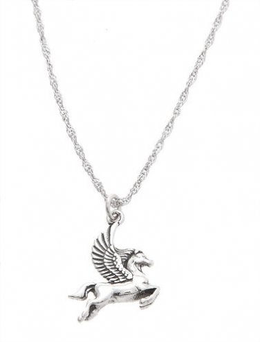 Pegasus Necklace Silver 16 inch chain only 4