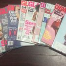 Lot 12 Fashion Magazines  2016 Cosmo Glamour Marie Claire