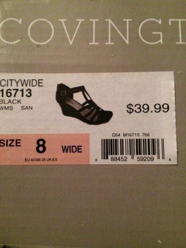 Covington Women�s Wedge Heel Strappy Sandal  Cityscape Black