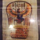 Egyptian Hand-painted Papyrus - Signed