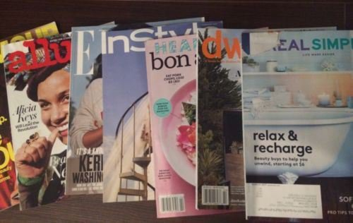 Lot 12 Women's Home Fashion Mag Instyle-Bon Appetite-Real Simple-glamour-Elle