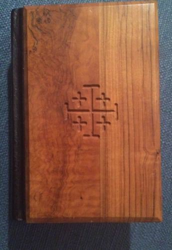 Olive Wood Holy Bible From Jerusalem The Old And New Testaments