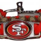 San Francisco 49ers Paracord Bracelet