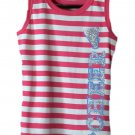 The Children's Place Kids Girl's Pink Stripe Cheer Tank Top Small