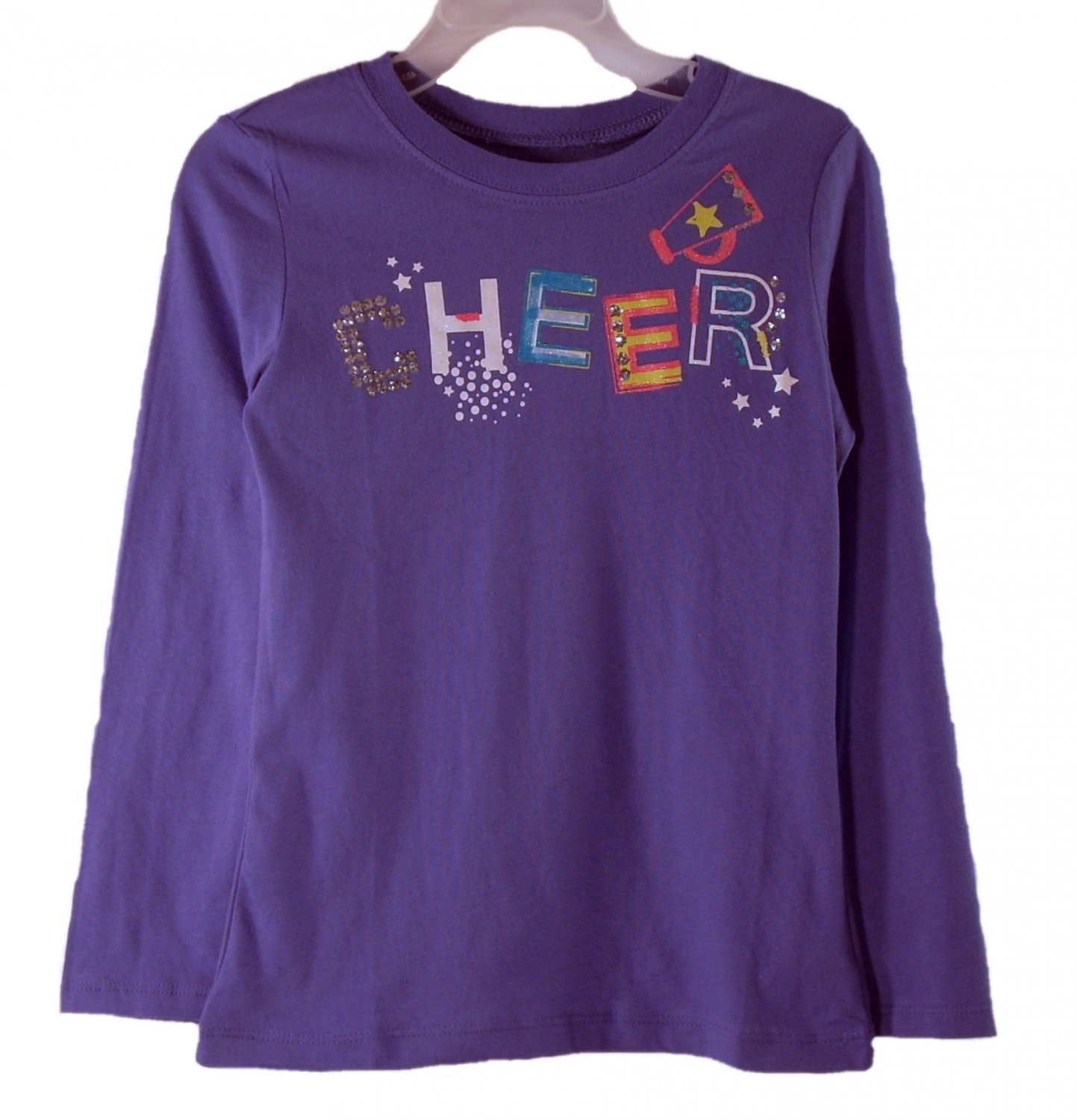 The Children's Place Kids Girl's Purple Cheer Long Sleeve T-Shirt Small
