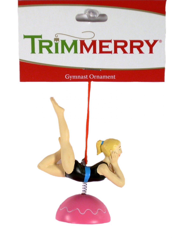 Trimmerry Blonde Female Gymnast Sport Christmas Ornament