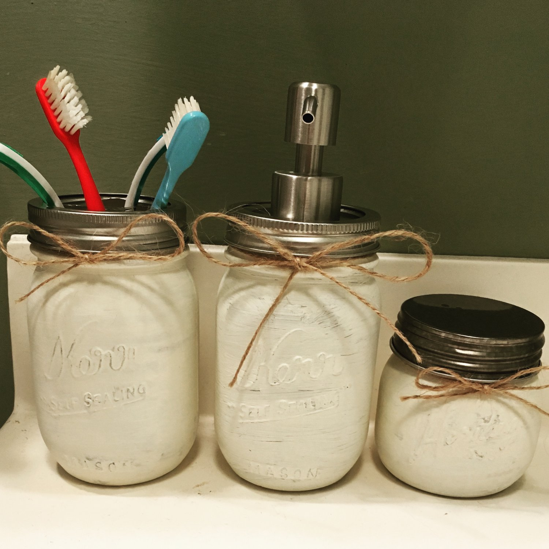 3-Piece Mason Jar Bathroom Set