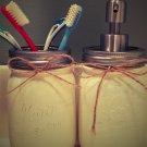 2-Piece Mason Jar Bathroom Set (toothbrush & soap)