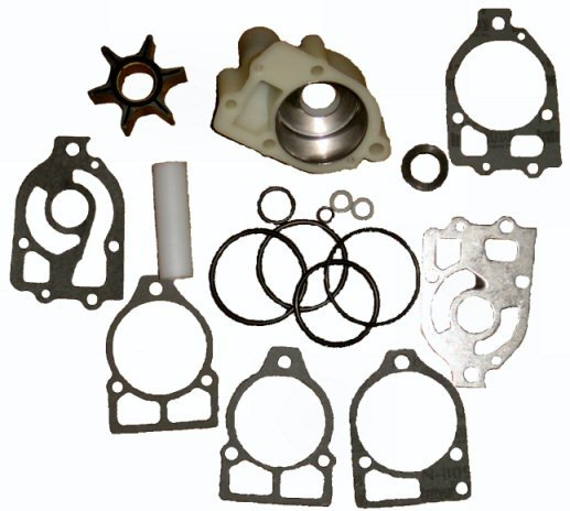Water Pump Kit with Housing for Mercruiser I, R, MR, Alpha 1 & Mercury 65HP thru V6 (TM3517)