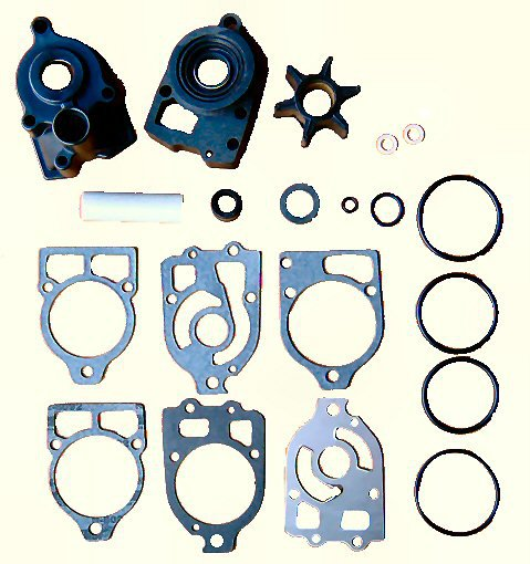 Complete Water Pump Kit with Housing and Base for Alpha One, R, MR (TM3320)