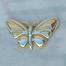 Liz Claiborne Butterfly Pin Brooch Gold-Silver Tone Jewelry