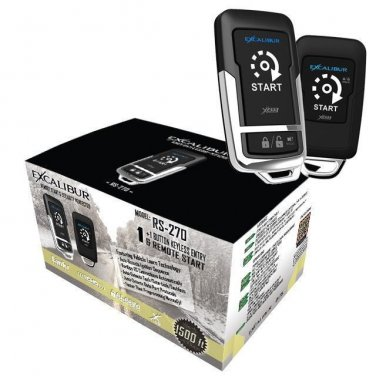 EXCALIBUR RS-270  1-Button / 1+1 Button Remote Start &  Keyless Entry system