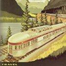 Vintage Train Travel Art 32x24 Poster Decor
